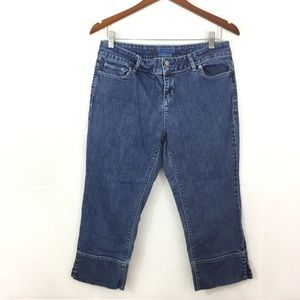 Simply Vera Vera Wang Size 12 Petite Cropped Jeans